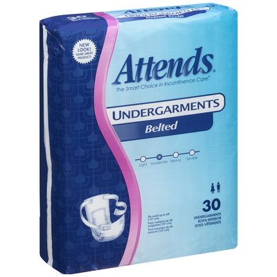 BU0600 Attends® Undergarments Belted Style, 30 count