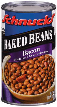 Schnucks Maple Cured Bacon W/Onion Baked Beans 28 Oz Can