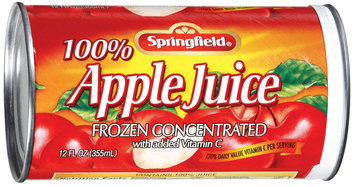 Springfield 100% Apple Frozen Concentrated Juice 12 Oz Can