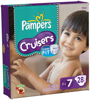 Pampers Cruisers Mega Pack Size 7 Diapers 28 ct Bag