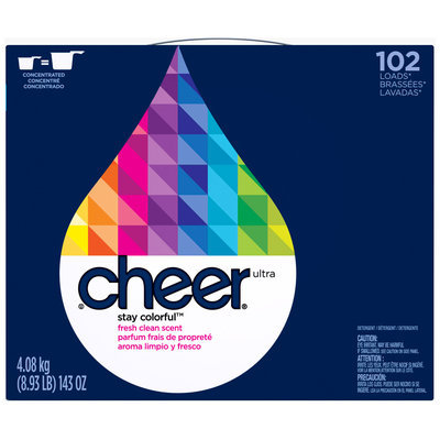 Cheer Fresh Clean Scent Powder Laundry Detergent 143 oz. Box