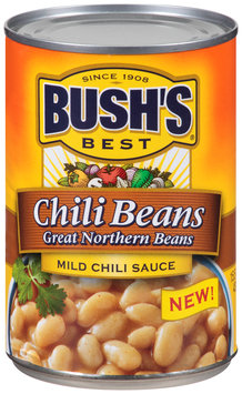 Bush's Best® Chili Beans Great Northern Beans in Mild Chili Sauce 15.5 oz. Can