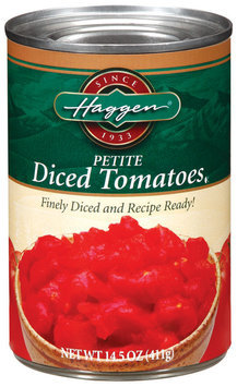 Haggen Petite Diced Tomatoes 14.5 Oz Can