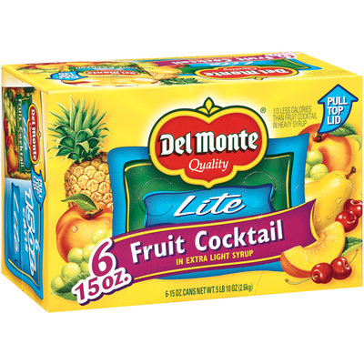 Del Monte Fruit Cocktail in Extra Light Syrup 6-15 oz. Cans