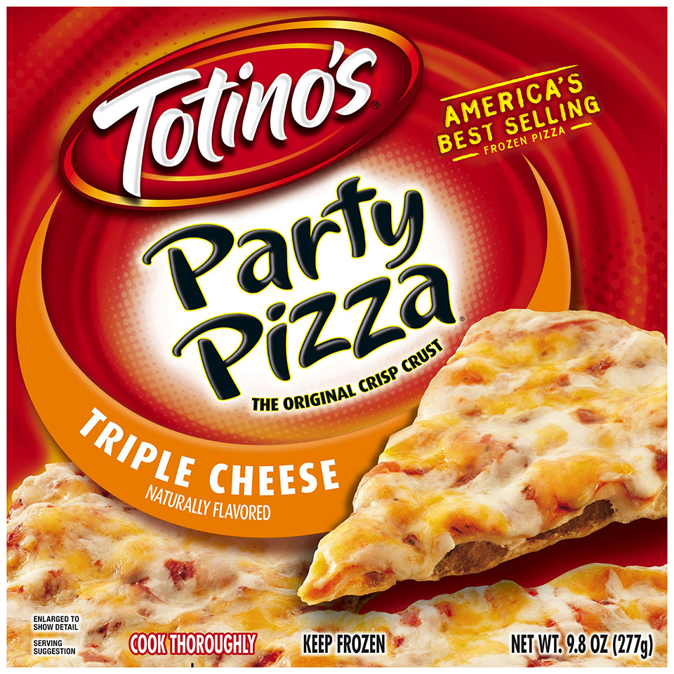 Totino's® Triple Cheese Party Pizza® 9.8 oz. Box