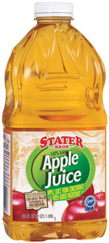 Stater Bros. Apple Juice 2 Qt Plastic Bottle