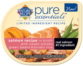 Nature's Recipe® Pure Essentials™ Salmon Recipe in Broth with Sweet Potato, Green Beans & Brown Rice Wet Dog Food 2.75 oz. Package