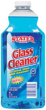 Stater Bros. Refill W/Ammonia Glass Cleaner 67.6 Fl Oz Plastic Bottle