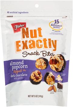 Fisher® Nut Exactly™ Almond Popcorn Snack Bites Dipped in Dark Chocolate 5 oz. Bag