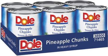 Dole Canned Fruit Chunks In Heavy Syrup 108 Oz Pineapple 6 Ct Tray