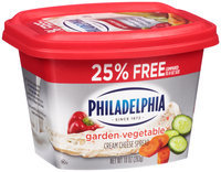Kraft Philadelphia Garden Vegetable Cream Cheese Spread 10 oz. Tub