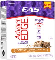 EAS® AdvantEdge® Peanut Butter Chocolate Chip Pure Milk Protein Bars
