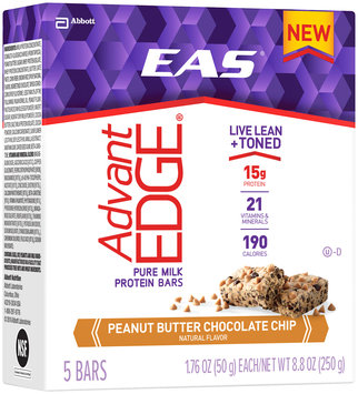 EAS® AdvantEdge® Peanut Butter Chocolate Chip Pure Milk Protein Bars