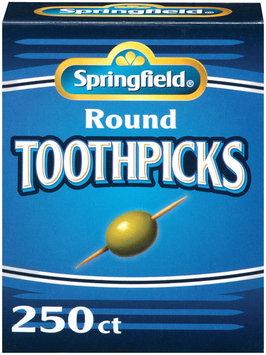 Springfield Round Toothpicks 250 Ct Box