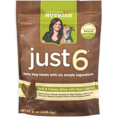 Nutrish Just 6 Soft & Chewy Bites W/Real Chicken Dog Treats 8 Oz Peg