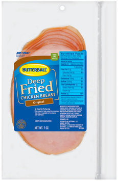Butterball Deep Fried Original Chicken Breast 7 Oz Zip Pak