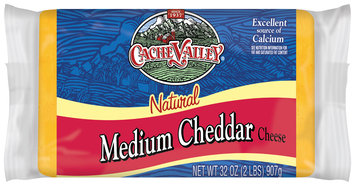 Cache Valley Medium Cheddar Cheese 2 Lb Package