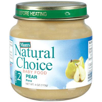Mom's Natural Choice Baby Food Pear 4 oz Jar