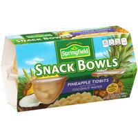 Springfield® Pineapple Tidbits Snack Bowls 4-4 oz. Bowls