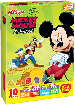 Kellogg's® Disney Mickey Mouse & Friends Fruit Flavored Snacks 10 ct Pouches