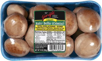 Giorgio Fresh Baby Bella Mushrooms 10 Oz Tray