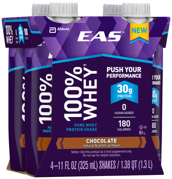 EAS® 100% Whey Chocolate Pure Whey Protein Shakes 4-11 fl. oz. Cartons