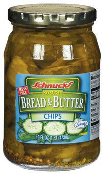Schnucks Bread & Butter Chips No Sugar Pickles 16 Fl Oz Jar