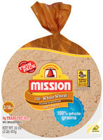 Mission® 100% Whole Wheat Soft Taco Flour Tortillas 2-10 ct Bags