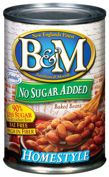 B&M Homestyle No Sugar Added Baked Beans 16 Oz Can