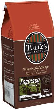 Tully's Coffee Grand Whole Bean Dark Roast Espresso Roast 12 Oz Stand Up Bag