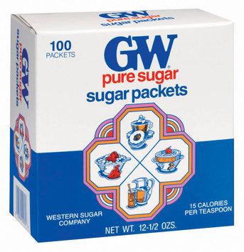 GW Pure 100 Ct Sugar Packets 12.5 Oz Box