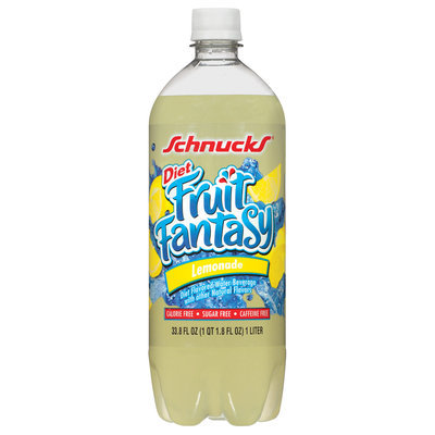 Schnucks Fruit Fantasy Diet Lemonade Water Beverage 33.8 Fl Oz Plastic Bottle