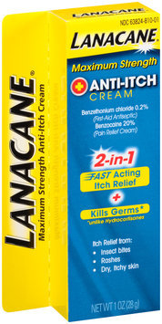 Lanacane® Maximum Strength Anti-Itch Cream 1 oz. Box