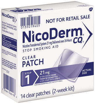 NicoDerm® CQ® Step 1 21mg Clear Patches 14 ct Pack