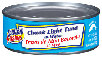 Special Value Chunk Light In Water Tuna 5 Oz Can