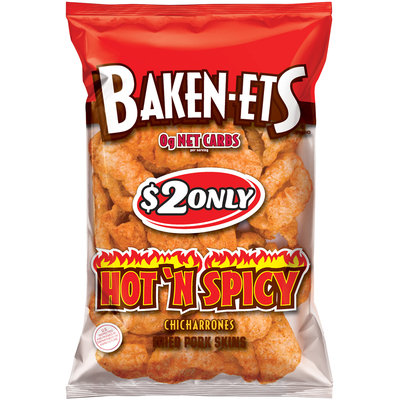 Baken-Ets® Hot 'N Spicy Fried Pork Skins 3.75 oz. Bag