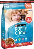 Purina Puppy Chow Complete Dog Food Bonus Size 18 lb. Bag