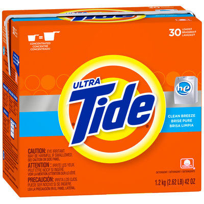 Tide Ultra Clean Breeze Scent HE Powder Laundry Detergent 42 oz. Box