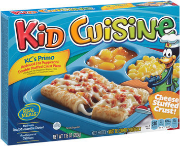Kid Cuisine® KC's Primo Reduced Fat Pepperoni Double Stuffed Crust Pizza Frozen Dinner 7.15 oz. Box