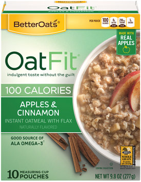 Better Oats® Oat Fit® Apples & Cinnamon Instant Oatmeal with Flax 10 ct Box