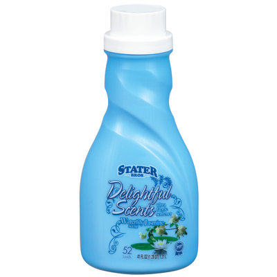 Stater Bros. Delightful Scents Waterlily Jasmine Fabric Softener 41 Fl Oz Plastic Bottle