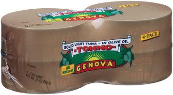 Genova® Tonno Solid Light Tuna in Olive Oil 4-5 oz. Cans