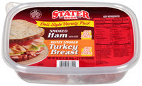 Stater Bros.® Deli Style Variety Pack Smoked Ham/Honey Smoked Turkey Breast 2-8 oz. Pouches
