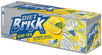 Diet Brisk® Lemon Iced Tea 12 Pack 12 fl. oz. Cans