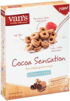 Van's Simply Delicious™ Cocoa Sensation™ Five Whole Grain Cereal 10 oz. Box