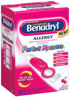 Children's Benadryl® Perfect Measure™ Cherry Flavor Liquid (Single Use Spoons) Allergy 10 Ct Box