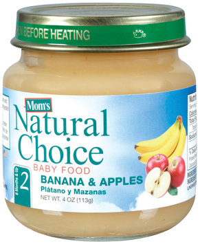 Mom's Natural Choice Baby Food Banana & Apples 4 oz Jar