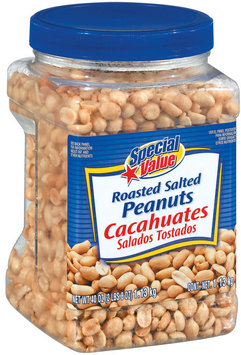 Special Value Roasted Salted Peanuts 40 Oz Canister