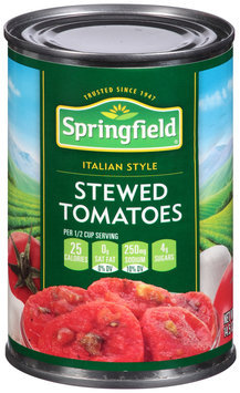 Springfield® Italian Style Stewed Tomatoes 14.5 oz. Can