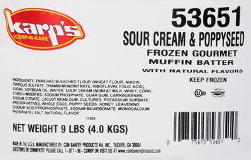 Karp's® Scoop-N-Bake® Sour Cream & Poppyseed Frozen Gourmet Muffin Batter 18 lb. Box
